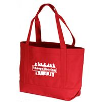 Solid Color Canvas Tote Bag