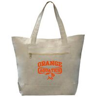 Canvas Zipper Tote Bag