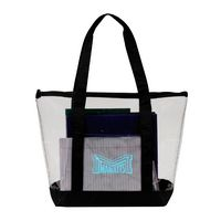 Clear Zipper Tote with pocket