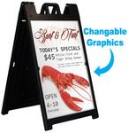 Deluxe Sandwich Board Display w/ 2 Sided Graphic