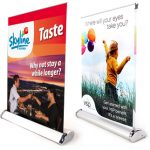 Custom Mini Table Top Retractable Banner Stand w/ Graphic - 12