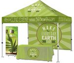 Custom Event Tent Package #3  Tent + Full Back Wall + Throw + Banner Stand