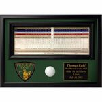 Hole In One Golf Ball & Score Card Display Plaque