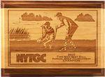 Red Alder & Walnut Lasered Wood Golf Plaque
