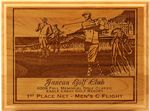 Red Alder Lasered Wood Golf Plaque