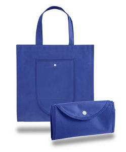 Foldable Non Woven Tote Bag w/ Snap Closure - Blank (14 3/4x14 3/4)