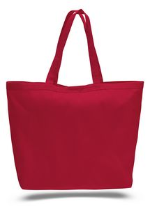 38c73dbd6120 Colored Canvas Big Tote Bag w  Velcro™ Closure - Blank (23