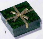 Custom Grant Green Marble Cardboard Bangle Box w/Gold Bow