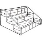 Custom 3-Tier 18 Compartment Acrylic Display