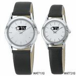Custom Women's Silver White Dial Round Face Watch