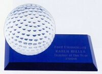 "Golf Desk Award - 6""x3""x3-1/2"""