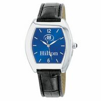 Men's Silver Blue Dial Watch