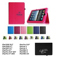 """iBank(R) 2018/2017 iPad 9.7"""" Leatherette Stand Case (Pink)"""