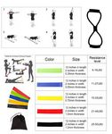 Custom iBank(R) Exercise Fitness Resistance Bands Set