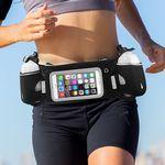 Custom iBank Running Belt with Touchscreen Zipper Pockets for all Smartphones (black)