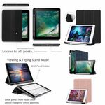 iBank(R) iPad Pro 10.5 Smart Cover Case with Pencil Holder (Black)