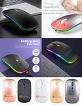iBank(R) LED Wireless Mouse with Built-in rechargeable battery (Black)