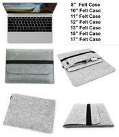 "iBank(R) 8"" Felt Sleeve Case with pocket for Tablet (Gray)"