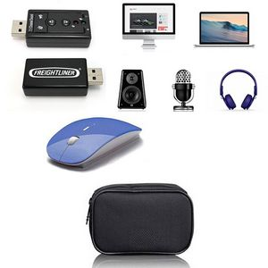 iBank® USB 7 1 Surround Sound Adapter + 2 4GHz Wireless Mouse