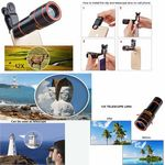 Custom iBank Universal 12X Zoom Telephoto Universal Clip On Lens