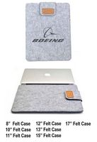 "iBank(R) 8"" Felt Sleeve Case for Laptop Tablet (Light Gray)"
