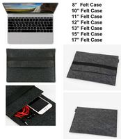 "iBank(R) 8"" Felt Sleeve Case with pocket for Tablet (Black)"