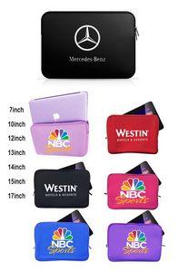 iBank(R) Neoprene Sleeve Zippered Case for 15 Laptop Notebook Tablet (Black)