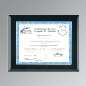 Black Glass Certificate Frame W Easel Back 8 12x11 Certificate