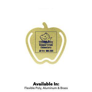 Custom Printed Apple Shaped Aluminum Bookmark Clips