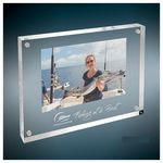 Custom Self-Standing Acrylic Magnetic Rectangle Plaque/Photo Frame, Large (6