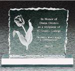 Custom Cracked Ice Award, Jade, 6-1/2