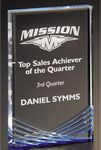 Custom Inspire Acrylic Award (large), Blue, 4-1/4