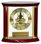 Custom Executive Gold & Rosewood Piano Finish Clock, 7-3//4