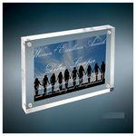 Custom Self-Standing Acrylic Magnetic Rectangle Plaque/Photo Frame, Medium (5