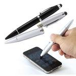 Custom Ballpoint Pen w/USB Flash Drive & Stylus 1GB