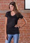 Custom Juniors Burnout V-Neck T-Shirt