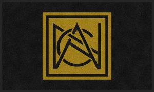 Flocked Olefin Indoor Logo Mat w/3 Colors (4'x6')