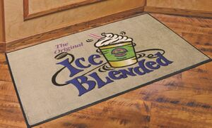 4x6 DigiPrint Nylon Indoor Carpeted Logo Mat w/ Rubber Backing