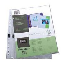Non-Glare 25 Pack Clear Sheet Protectors
