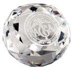 Custom Diamond Cut Glass Award Paperweight