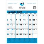 Custom 2020 Commercial Planner Wall Calendar - Blue & Black
