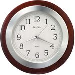 Custom Bulova Reedham Wood Wall Clock