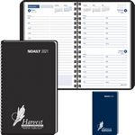 Custom Ruled Desk Planner, 1 Day Per Page Wired to Cover - 2021
