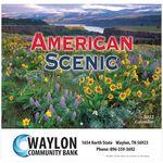 American Scenic Wall Calendar - Stapled