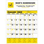 Custom 2020 Commercial Planner Wall Calendar - Yellow & Black