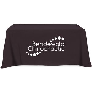 Poly/ Cotton Twill 4 Sided Flat Screen Printed Table Cloth (Fits 6 Table)