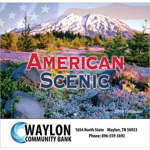 2019 American Scenic Wall Calendar - Stapled