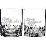 Custom Waterford Whiskey & Water DOF 12 OZ Set/2