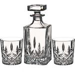 Custom Waterford Markham 11oz Double Old Fashioned, Pair & Square Decanter