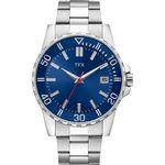 Custom TFX Men's Sport Bracelet Watch with Blue Dial